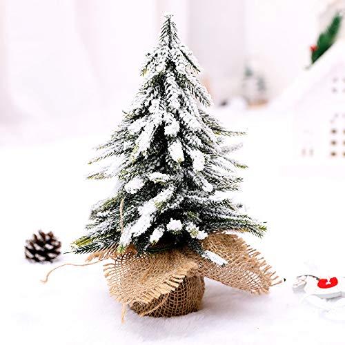 Fengzho Kunstkerstbal, voor thuis, tafel, bureau, ornament, kerstdecoratie, voor ramen, sneeuw, dennendecor
