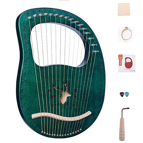 16 String Lyre Harfe, Massivholz Mahagoni-Körper, Einzigartige Muster, Geschnitzte Phonetische Symbole, Mit Tuning-Schlüssel, Zusätzliches String-Set, Pick,...