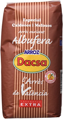 Dacsa Arroz Blanco Variedad Albufera - Paquete de 6 x 1000 gr - Total: 6000 gr