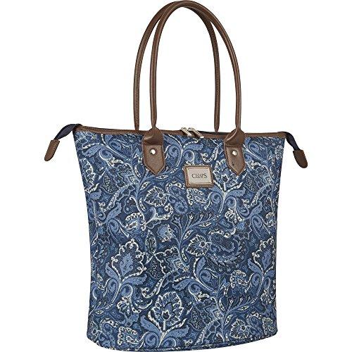 Chaps Oversized Travel Tote Bag, Indigo Paisley