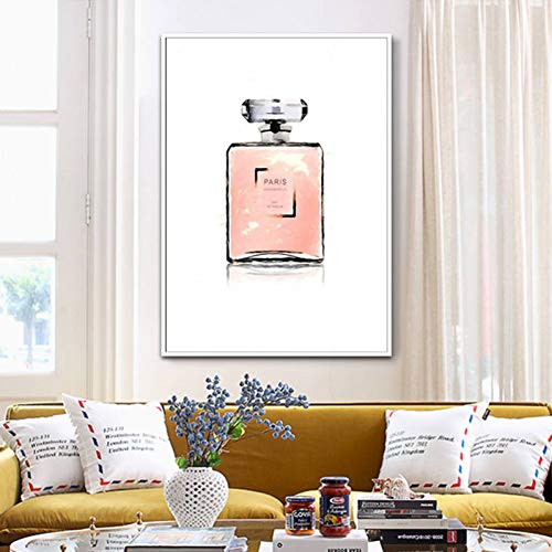 LPHMMD Decoración del hogar Perfume Lienzo Pintura Pintura simple-50x70cm