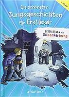 Die schoensten Jungsgeschichten fuer Erstleser: Lesenlernen mit Silbenfaerbung. Kurze Geschichten fuers erste Lesen fuer Kinder ab 7 Jahre fuer 6,00 EUR.