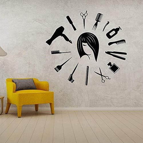 Beauty Salon Hairdresser Vinyl Wall Sticker Decal Sticker Beauty Salon Home and Beauty Salon Decorative Art 57x53cm