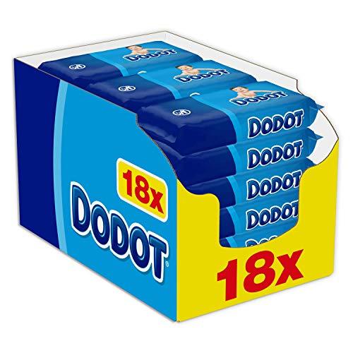 Dodot - Toallitas para bebé, 18 paquetes de unidades, total de 1152