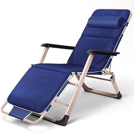午憩宝 折叠躺椅午休床 折叠床 (【双方青】+麂皮棉垫)