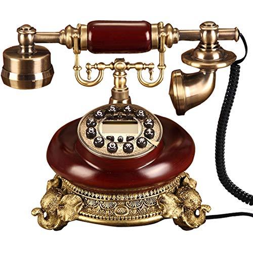 YYCHJU Teléfono con Cable Europa Hecha de Madera Antigua teléfono Fijo teléfono Vintage teléfono Domicilio Instalado