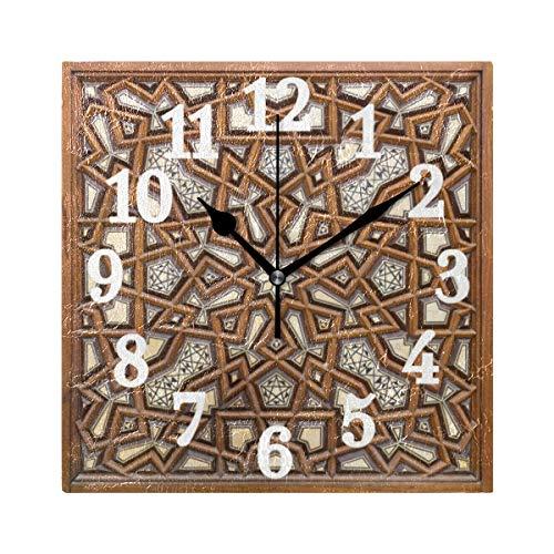 Ahomy Wanduhr Old Cairo Ägypten Home Art Decor Antiticking Ziffern Uhr für Home Office Schule