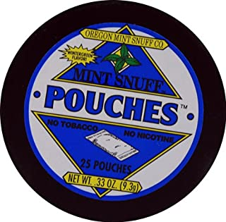 Oregon Mint Snuff Co. - Mint Snuff All Mint Pouches - Wintergreen Flavor .33oz Tin (5 Cans)