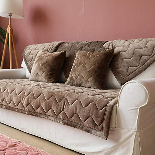YUTJK Fundas de Almohada cuadradas Funda de sofá,Suaves para el sofá,el Dormitorio y el Coche,Cojín de sofá Grueso cálido Antideslizante,para Primavera,marrón