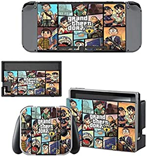 cocailony Nintendo Switch Skin Set FPS Game HD Printing Faceplate Protective for Console, Controller Skin Decal