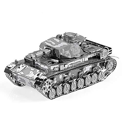piececool 3D Lasergeschnittenes DIY-Panzer Metall Modell Metallmodell-Puzzles für Erwachsene-IV TANK-168pcs
