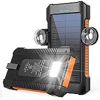 Latimeria M30000 26800mAh Solar Portable Power Bank with Dual USB Outputs (Orange)