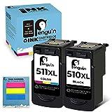 Penguin Remanufacturado Cartuchos de Tinta Reemplazo para Canon PG-510XL,CL-511XL 510 511 XL Compatible con Pixma MP270 MP230 MP280 MP490 MP495 (La edición especial incluye 1 juego de notas adhesivas)