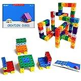 HIQTOYS Unlimited Creation Cubes Snap Unit Centimeter Cubes Interlocking Building Set Stem...