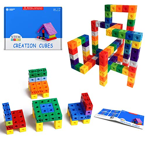 HIQTOYS Unlimited Creation Cubes Snap Unit Centimeter Cubes Interlocking Building Set Stem Toy | Promotes Color Sorting and Fine Motor Skills Therapy Tools