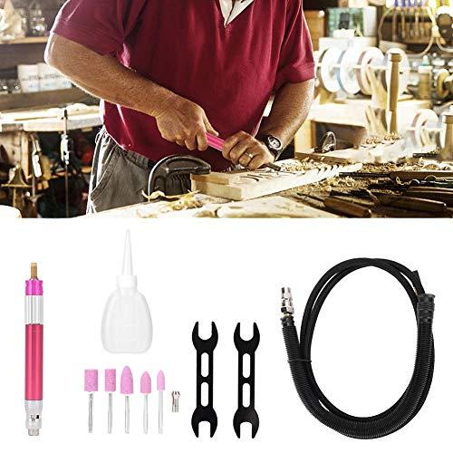 Pneumatischer Gravierstift Rose Red Mini Air Micro Die Grinder 65000rpm mit Silencer Tube Universal