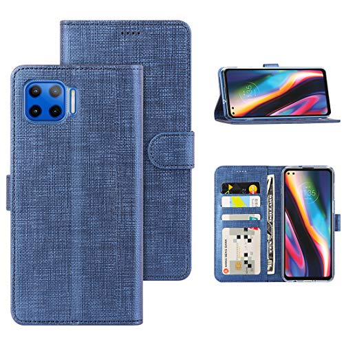 Black Premium PU//TPU Wallet Cover with Card and Cash Slots TANYO Leather Folio Case for Motorola E6s 2020 Flip Magnetic Closure Shell