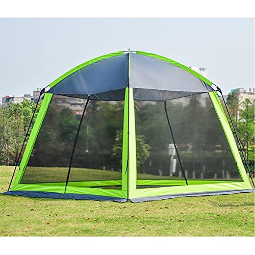 Zdcdy Anti-Moustique Tente en Toile3 à 4 Personnes Tente de pêche, Tente extérieure Camping Gaze Net Respirant crème Solaire Porte à Quatre côtés fenêtre Respirante,Green