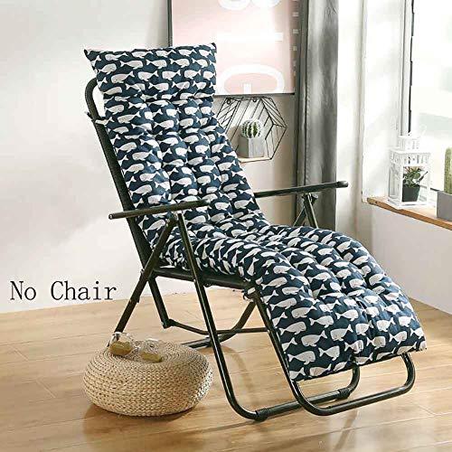 WYMBK Rocking Chair Cushion,Sun Chair Lounger Cushion,Thicken Lengthen Folding Chair Pad,Patio Furniture Overstuffed Bench Cushion Food B 48x122cm(19x48inch)