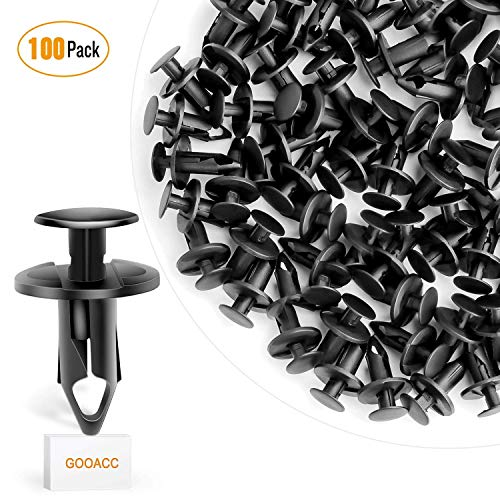 GOOACC Nylon Bumper Fastener Rivet Clips for GM 21030249 Ford N807389S Automotive Furniture Assembly Expansion Screws Kit Auto Body Clips 8mm - 100PCS