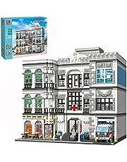Bulokeliner Modulair huisbouwstenen model, 4953 + delen noodziekenhuis klembouwstenen architectuur model compatibel met Lego-huis