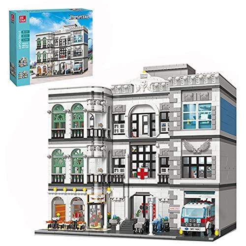 WWEI Kreatywny mieszkańcy miasta, szpital Street View, widok ulicy, modułowy model domu, 4953 części klocki zaciskowe, kompatybilne z Lego