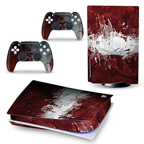 LUONE para la Etiqueta de la Etiqueta engomada de la Piel de PS5 Digital Edition para Playstation 5 Consola y Controladores para PS5 Pegatina de Piel Vinilo,A