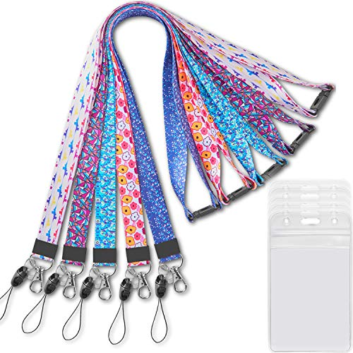Lanyard with ID Badge Holder for Women Kids Keys Men Cruise Key Card lanyards Detachable Breakaway Safety Lanyards with Badges Holders Name Lanyard Wide 0.79 inches(2cm) 5 Pack
