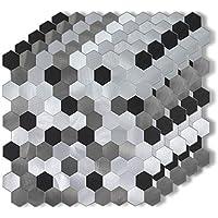 5-Pieces Xuaniny Metal Backsplash Tile Peel