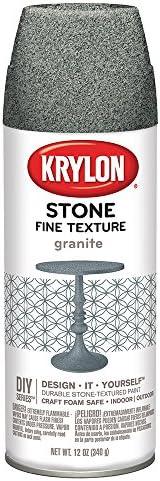 Krylon K03700000 Fine Stone Textured Finish, Granite