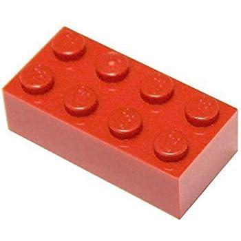 LEGO Bulk Bricks-White Blue Red /& Black Gray