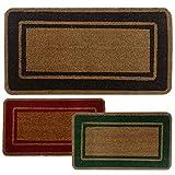 Parpyon Zerbino ingresso casa Classico cm 40X80 tappeto ANTISCIVOLO zerbino in cocco per interno zerbino da esterno tappeti moderni zerbini di vari colori (Marrone40x80)
