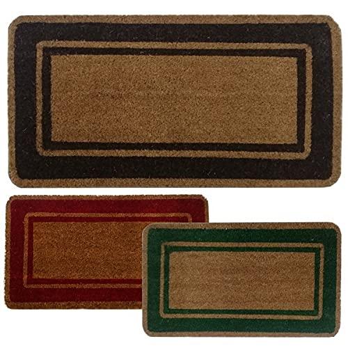 Parpyon® Zerbino ingresso casa Classico cm 50X100 tappeto ANTISCIVOLO zerbino in cocco per interno zerbino da esterno tappeti moderni zerbini (Marrone50x100)