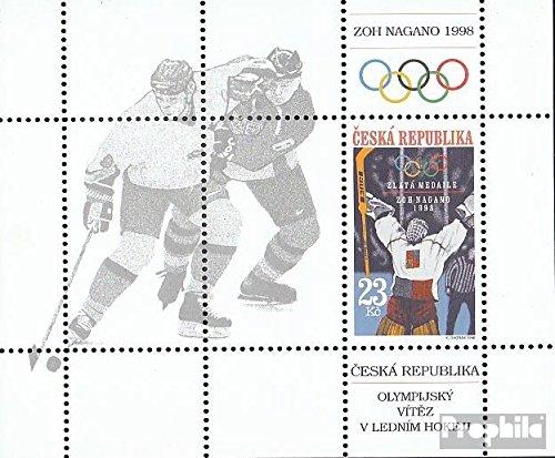 Prophila Collection Tschechien Block8 (kompl.Ausg.) 1998 Eishockey (Briefmarken für Sammler) Wintersport