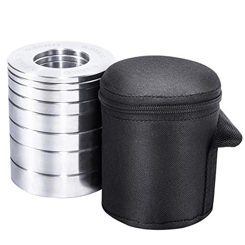 GORILLA SPORTS® Hantelscheiben Set 5 kg Olympia 0,25-1 kg Chrom – 8er-Set Gewichte mit 50/51 mm Bohrung inkl. Tragetasche