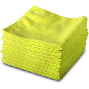 Customer reviews Exel GCC0030-Y Microfibre Cleaning Cloths for Polishing, Washing, Waxing and Dusting, Yellow, 400 mm x 400 mm, Pack of 10:Shizuku7148