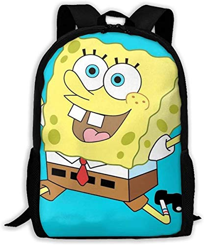 Lsjuee Custom Running Spongebob Mochila Informal Mochila Escolar Mochila de Viaje Regalo