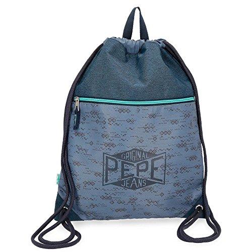 Pepe Jeans Pierce Mochila Tipo Casual, 42 cm, 0.67 litros, Azul