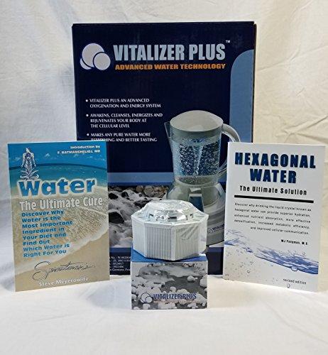 Vitalizer Plus Sechseckiger Sauerstoff-Wasserbereiter mit 2 Mineralwürfeln