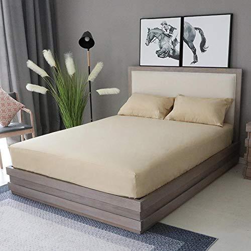XGguo Protector de colchón Acolchado - Microfibra - Transpirable - Funda para colchon estira hasta Sábana Impermeable cepillada impresión en Color sólido-4_200x220x28cm