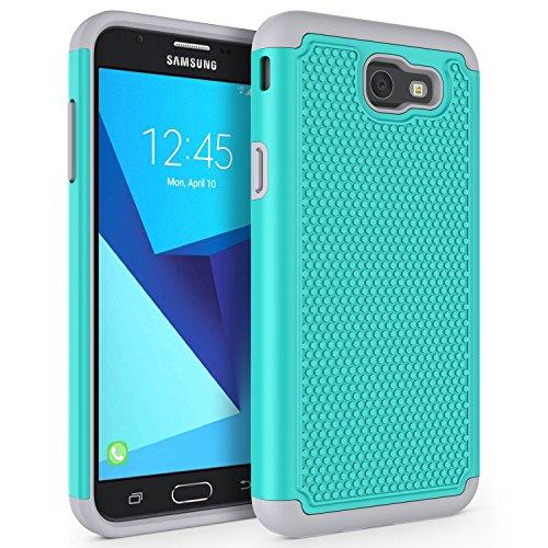 SYONER Shockproof Phone Case Cover for Samsung Galaxy J7 V 2017 (1st Gen)/ Galaxy J7 2017 / Galaxy J7 Prime/Galaxy J7 Perx/Galaxy J7 Sky Pro/Galaxy Halo[Turquoise]