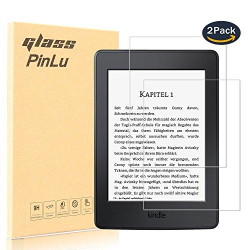 pinlu [2 Pack] Protector de Pantalla de Cristal para Amazon Kindle Paperwhite Protector Cristal Vidrio Templado para Amazon Kindle Paperwhite [9H/2.5D/0.26mm, 99% Transparente]