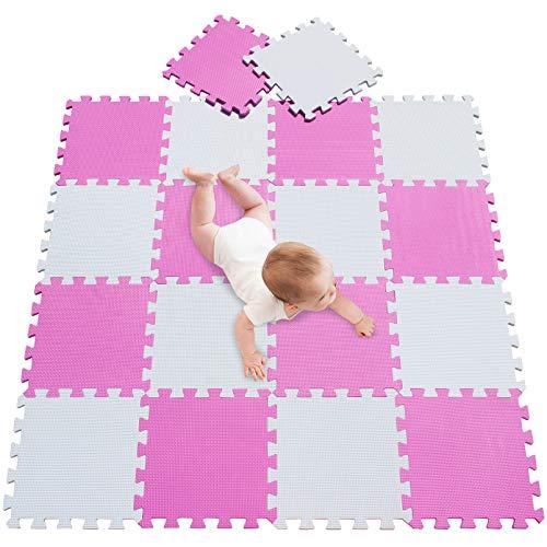 meiqiciol Puzzlematte für Babys und Kinder, Spielteppich Spielmatte Lernteppich Kinderspielteppich Schaumstoffmatte Matte bunt,18 Stück...