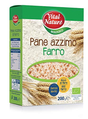 Vital Nature Spa Pane Azzimo di Farro Bio - Pacco da 12 x 200 g