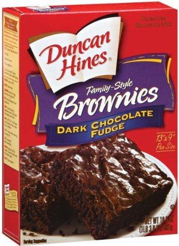 Duncan Hines Dark Chocolate Fudge Brownie Mix  2 boxes