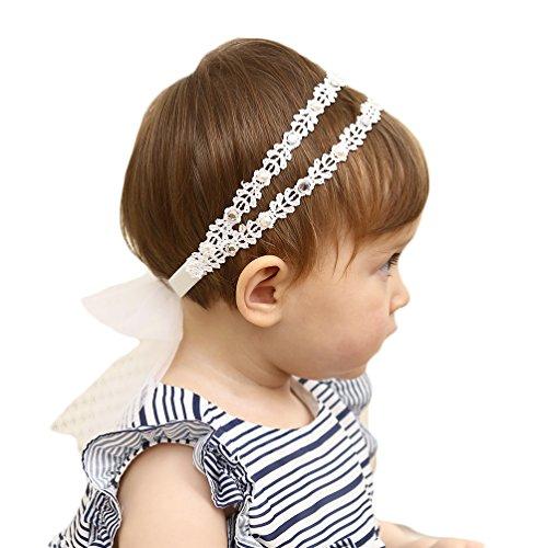 Baby Girl Super Elastic Headband,Cotton Lace...