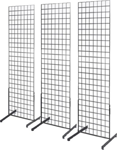 2' x 6' Grid Wall Panel Floorstanding Display Fixture with...
