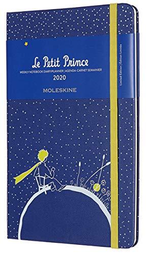 Moleskine - Horaire Hebdomadaire 12 Mois 2020, Edition Spéciale Le Petit Prince, Planète avec Couverture Rigide et Fermeture Elastique - Grand Format 13 x 21 cm - 144 Pages