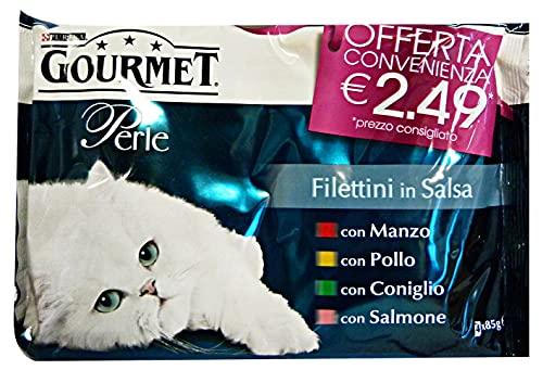PURINA Set 12 Filettini X 4 Saumon b?uf lapin poulet 2.49 Nourriture Pour chats