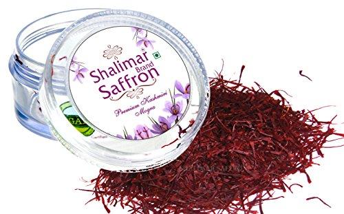 Shalimar Organic Saffron Pure Kashmir Kesar / Saffron - 1 Gram (Natural & 100% Original & Premium A++ Grade Saffron Threads, Highest Quality Saffron)